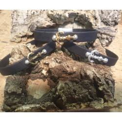 Bracelet en liège ancre