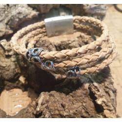 Bracelet en liège tressé