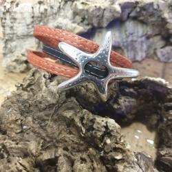 Bracelet en liège étoile de...