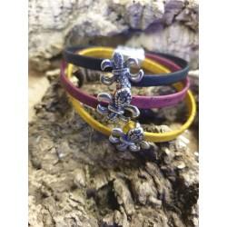 Bracelet en liège fleur de lys