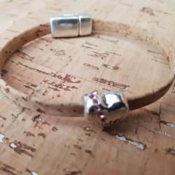 Bracelet en liège coeur maman