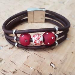 Bracelet en liège porcelaine