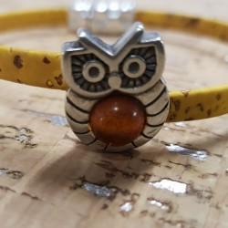 Bracelet en liège hibou