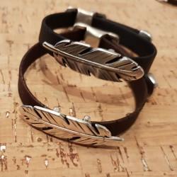 Bracelet en liège plume
