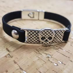 Bracelet en liège tête de mort