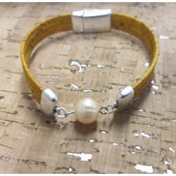 Bracelet en liège perle...