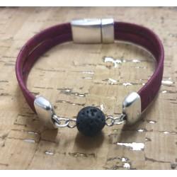 Bracelet en liège pierre...