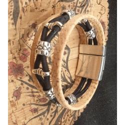 Bracelet en liège perles...