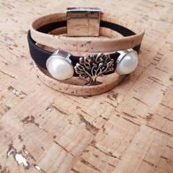 Bracelet en liège arbre de...